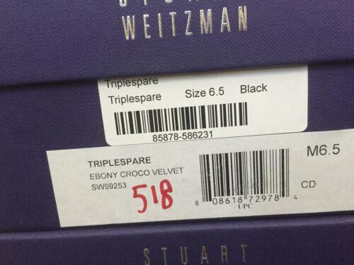 NIB Stuart WeitzmanTriplespare Black velvet Pointedtoe with buckle 6 6.5 7 8 8.5