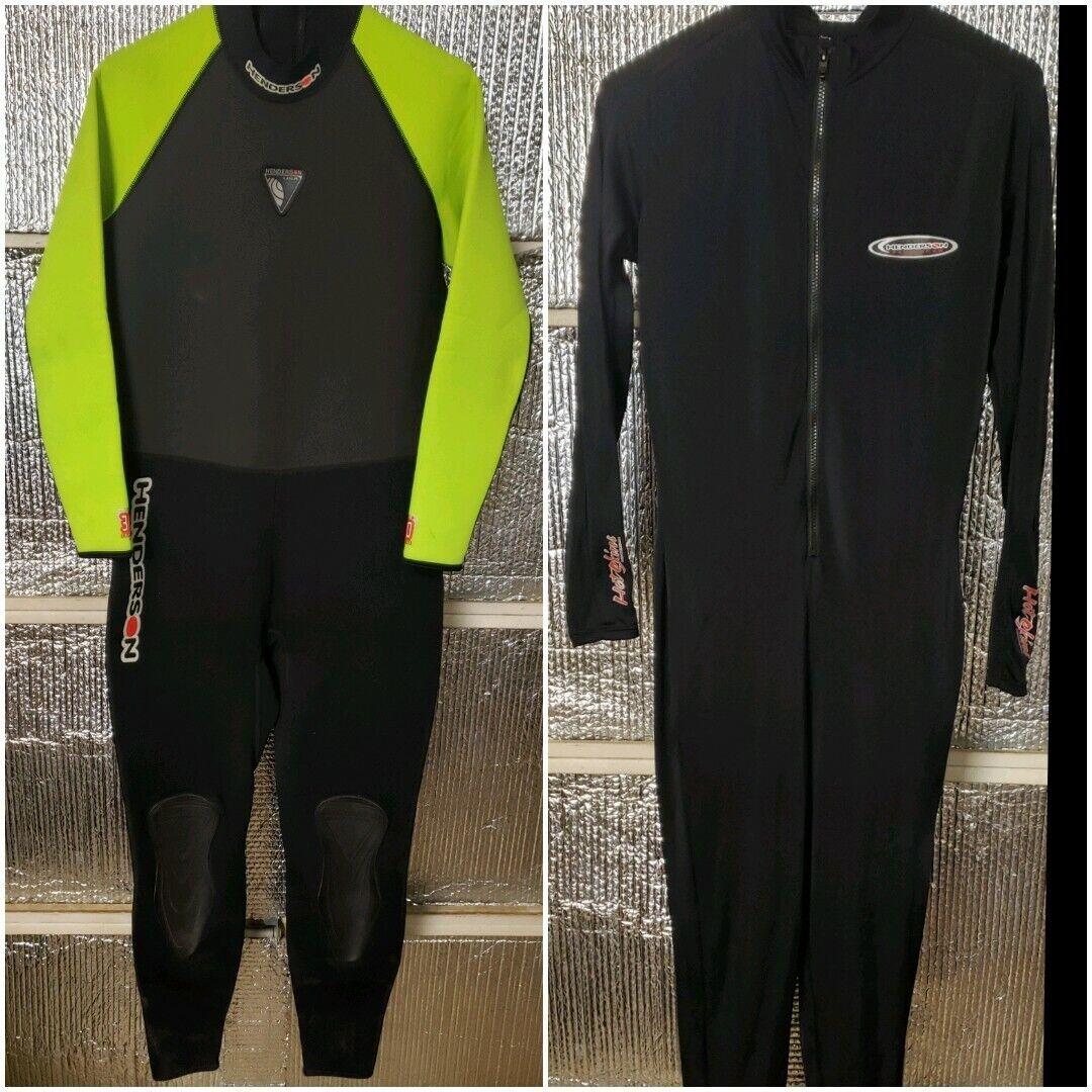 HEMELS Henderson Aquatics 3MM Lange mouw Nat Suit and Hot Skins afmeting L