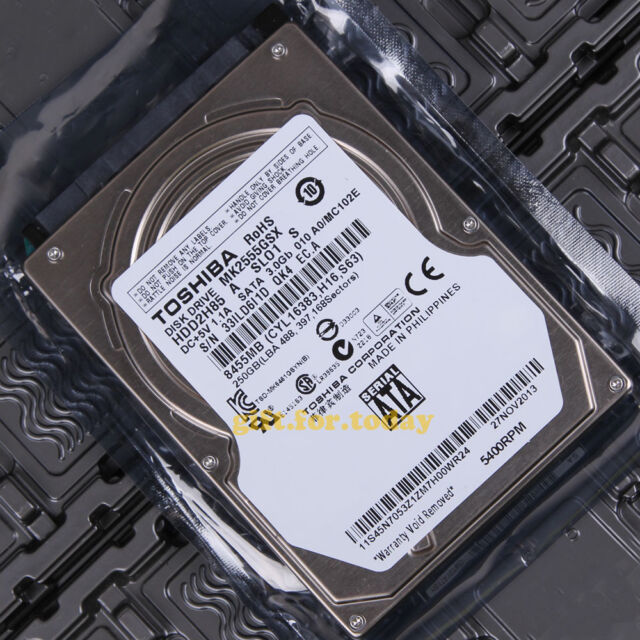 "TOSHIBA 250 GB 5400 RPM SATA 2.5"" (MK2555GSX) Internal Hard Drive HDD"