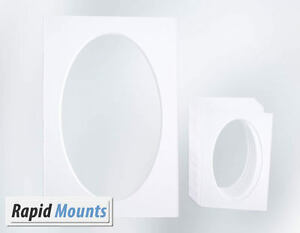 5-Pack-Oval-Mounts-for-Pictures-Photo-frames-White-core-board-Various-Sizes