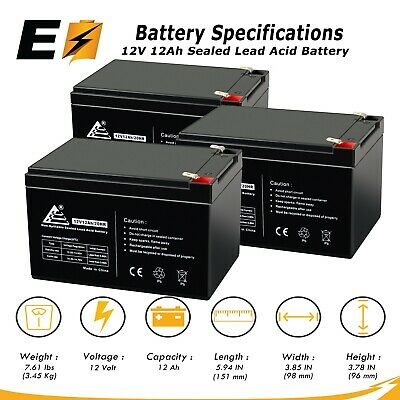 Set of 2 Sola N250 UPS Replacement Batteries