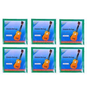 6 sets black nylon ukelele uke strings for ukulele hawaii guitar parts 634458198141 ebay. Black Bedroom Furniture Sets. Home Design Ideas
