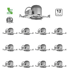 "12 Pack - 6"" New Construction LED Can Air Tight IC Housing LED Recessed Lighting"