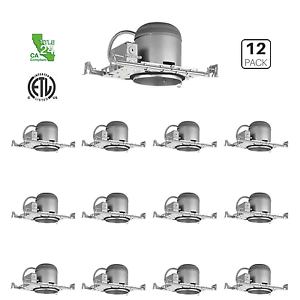 12 Pack 6 New Construction Led Can Air Tight Ic Housing Led