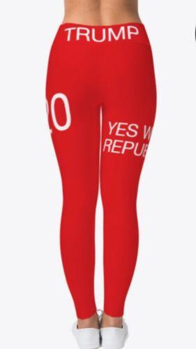 Trump 2020 Yes We Republican leggings Red