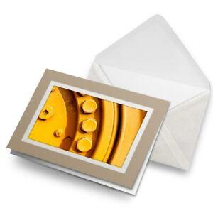 Greetings-Card-Biege-Yellow-Bolts-Mechanic-Men-039-s-2581