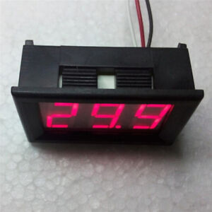 Mini voltmeter tester Digital voltage test battery DC 0-30V red auto car S*YVFDL