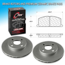 CK0008 Fits Toyota Tercel Front L+R Brake Rotors & Premium Ceramic Pad Set