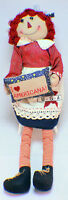 Raggedy Ann I Love Americana Plush Cloth Doll Xl Lg Red White & Blue