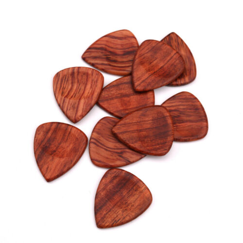 Guitar Pick Plectrum Red Rosewood for Music Lover Perform Gift Dark Brown