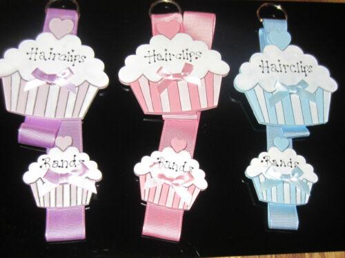 Chicas Lindas Hairclip Bandas storage//hanger//organiser soporte Cupcake Shabby Chic