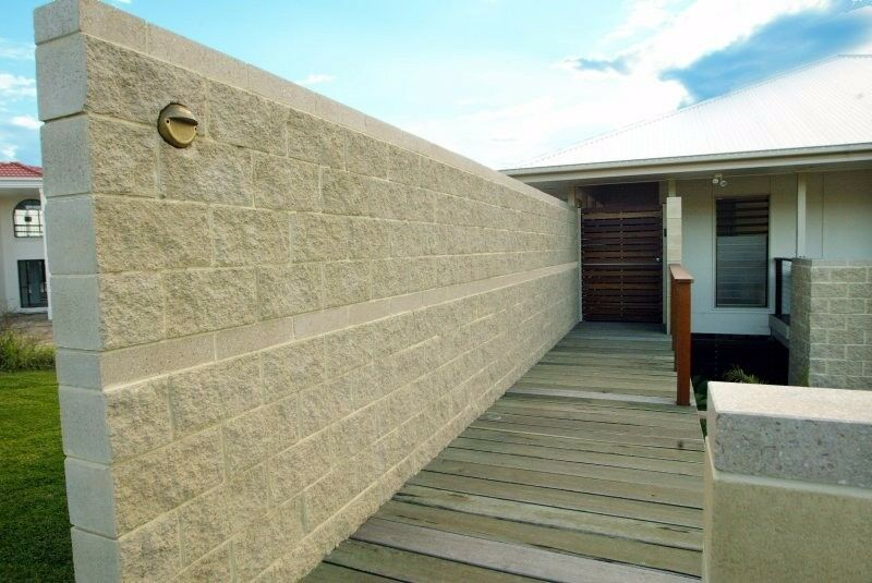 Rock Face Bricks Masonry Concrete Blocks Hollow Blocks