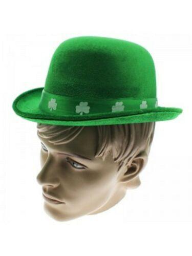 St Patricks Day Irish Flag Green White Orange Sequin Bowler Fancy Dress Hats
