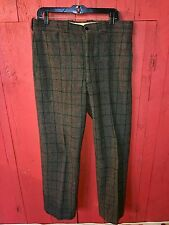 Vintage 1950's SANFORIZED Gray 100% Wool Winter Hunting Fishing Pants 36x32 USA