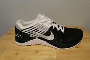 NWOB Mens Nike Metcon DSX Flyknit Black/White/Silver Oreo 852930-005 Mens Sz 11
