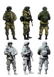 1-35-Resin-Figure-Model-Kit-Modern-Russian-Soldiers-Unassambled-Unpainted