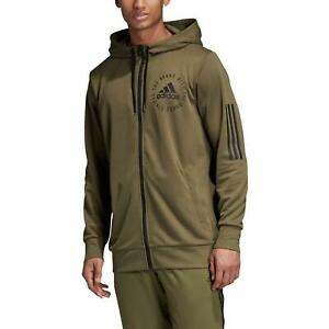 Adidas Essentials Herren 3 Stripe Hoodie Pullover Hoody Full