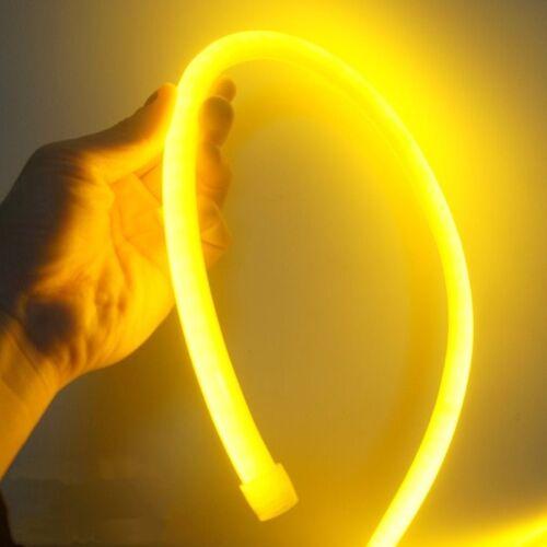 50M 360° Degree Round LED Neon Rope Light Waterproof Outdoor Indoor Lighting