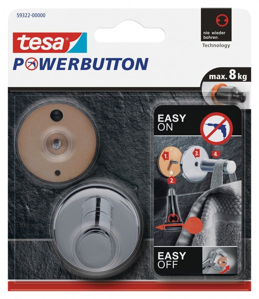 Tesa Powerbutton® Haken Universal Large Klebehaken