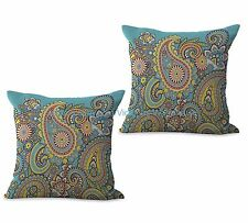 US SELLER- set of 2 retro bohemian paisley cushion cover car seat cushion covers