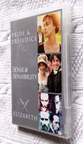 1 of 1 - Pride and Prejudice / Shakespeare in Love  / Elizabeth (DVD, 3-Disc) REGION-4