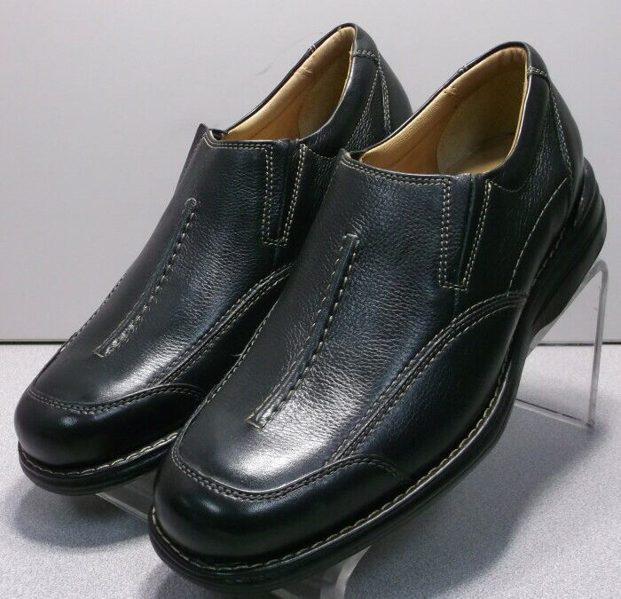 207467 WT50 Mens Shoes Size 10 M Black Leather Slip On Johnston Murphy Walk Test