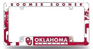 FANMATS NCAA University of Oklahoma Sooners Chrome License Plate Frame