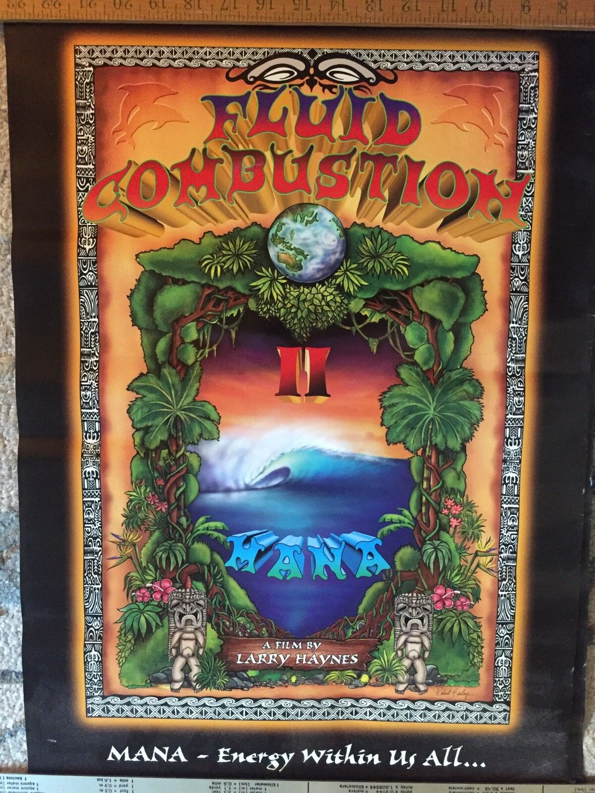 VTG Fluid Combustion 2 Surfing Poster(surf,Eddie Aikau,endless Summer Hawaii AUS