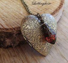 xxl medallion photo medallion filigran locket Herz steampunk retro kette heart