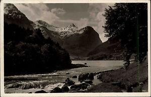 Norwegen-Norge-s-w-AK-1936-gelaufen-Das-norwegische-Maerchenland-Flusspartie-Berge