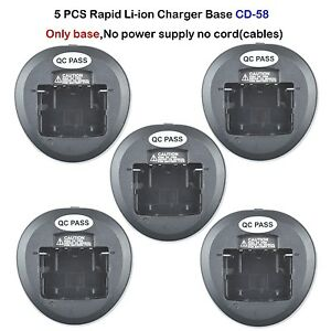 5x-Rapid-Battery-Charger-Base-for-Vertex-VX-231-VX-261-VX-454-Portable-Radio