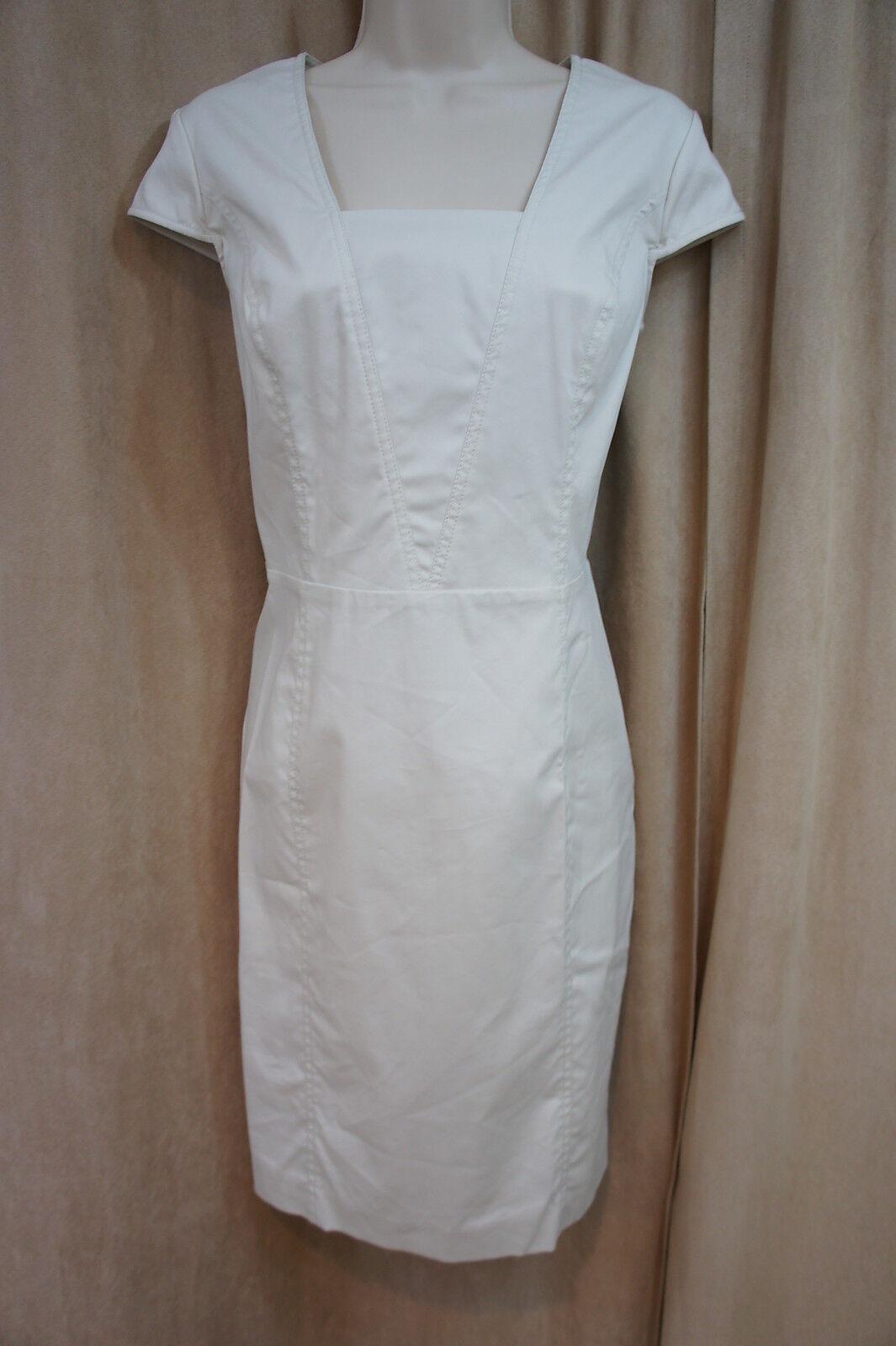Marc New York Andrew Marc Dress Sz 8 Nimbus Beige Cap Sleeve Business Dress