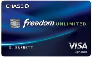 40 200 Sign Up Bonus For Chase Freedom Unlimited Credit Card Referral Ebay