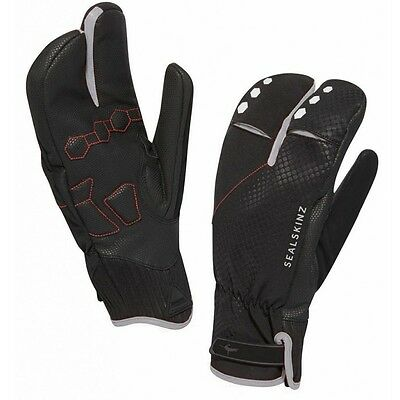 Sealskinz Waterproof Highland XP Claw / Lobster Cycling Gloves - winter, black