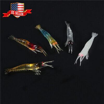 5pcs Shrimps Fishing Lures 9.5Cm 3.5g Swimbaits No Hook Silicone L40