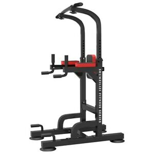 Dip Station Chin Up Bar Power Tower Pull Push Home Gym Fitness Core Equipment AA