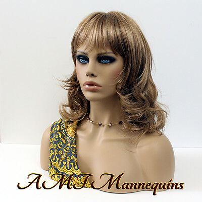 Female hand made mannequin heads, amt-mannequins, life size, smoky eyes, head-FO