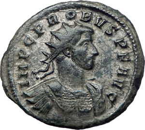 PROBUS-276AD-Authentic-Ancient-Silvered-Roman-Coin-Roma-with-Victory-i73370