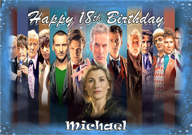 Dr Who large A5 size personalised card daughter son grandson birthday card m
