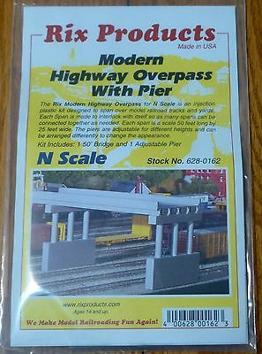 50/' Deck w//Pier Rix Products N #628-152 1930s Highway Overpass