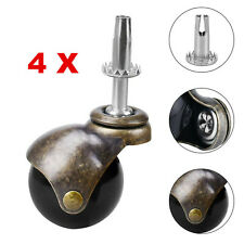 4x Ball Caster Stem Wheel 2 Inch Caster Wheels For Furniture Sofa Chair Cabinet