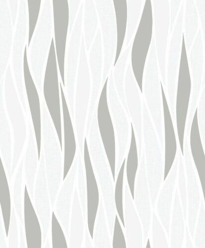 Muriva Freya Luxury Metallic Glitter Textured Abstract Wave Stripe Wallpaper