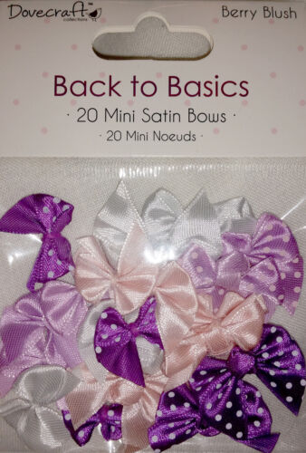 LOT 20 NOEUDS SATIN A POIS UNIS BARRETTE COUTURE SCRAPBOOKING VIOLET MAUVE