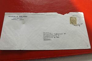 * Lettre Document-libye Allemagne-salzgitter Ag 50-er Ans (117)-afficher Le Titre D'origine