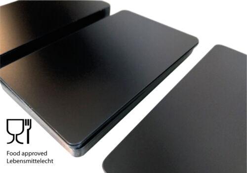 10 Plastikkarten SCHWARZ MATT DÜNN0,5 mm DickPVC KartenKunststoffkarten