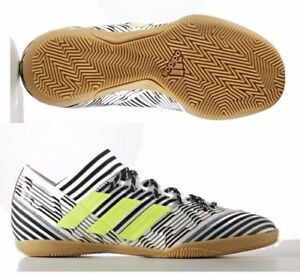 5f0cdceb150 ADIDAS NEMEZIZ TANGO 17.3 INDOOR SOCCER SHOES White Solar Yellow.