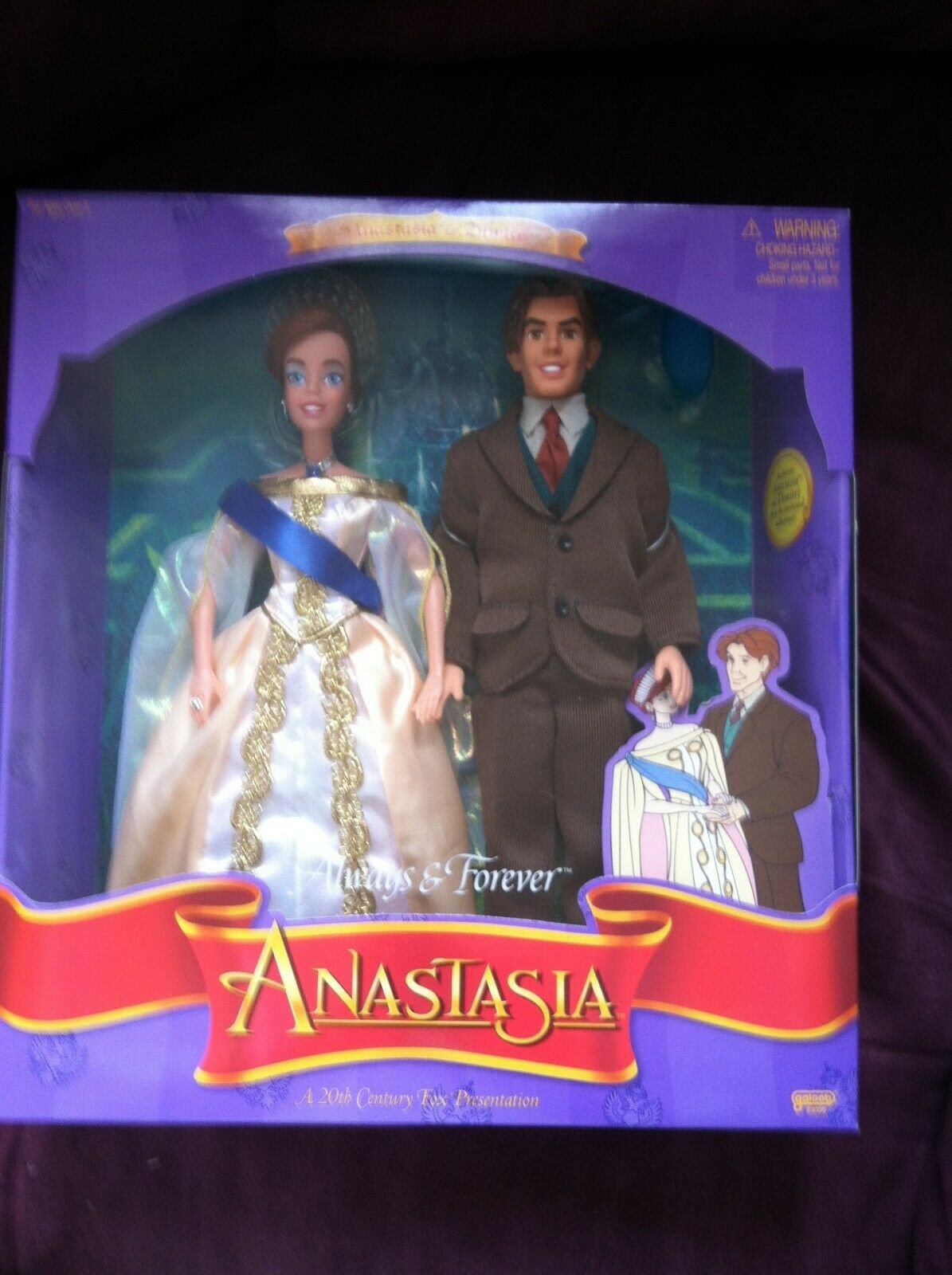 1997 Anastasia & Dimitri siempre & Forever Giftset Muñecas galope Barbie Tamaño de menta