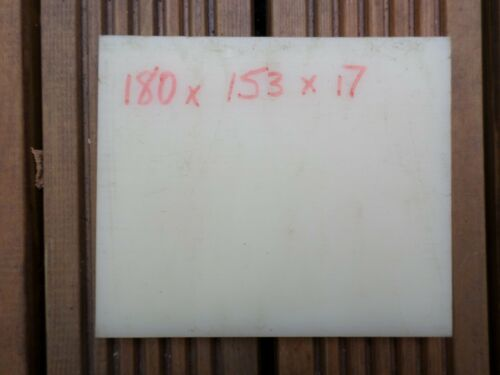NYLON 6 PLASTIC SHEET BLOCK PLATE NATURAL WHITE IN COLOUR 17mm X 153mm X 180mm