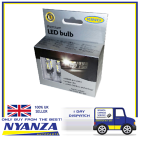 PREMIUM-RING-LED-BULB-6000K-CANBUS-ICE-WHITE-SIDELIGHT-BULBS-NUMBER-PLATE