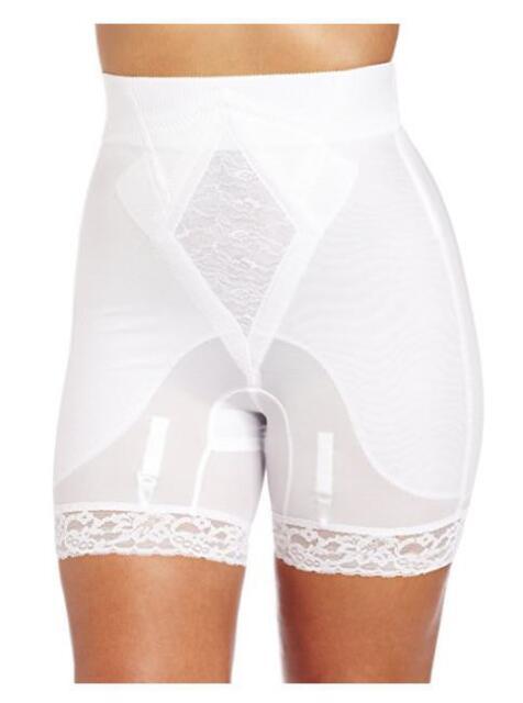 7b6ecde05 Rago Women s Plus-size Hi Waist Long Leg Shaper Style 6206 White 2xl ...